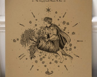 Neutral Milk Hotel - The King of Carrot Flowers, Pt. One /// Song-inspired illustration /// Square print
