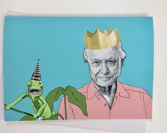 David Attenborough - Illustrative A5 Birthday card