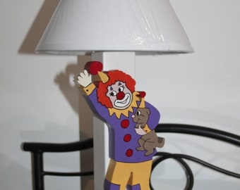 The clown and his dog lamp