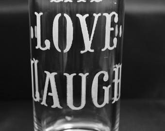 Custom Etched High Ball Glass