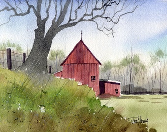 Spring Morning-Print from an original watercolor painting