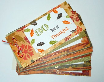 Handmade Coupon Book - 30 Days of Thankful - Blank Tickets for Thanksgiving, Random Acts of Kindness