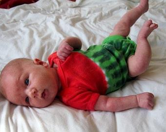 Tie Dye Watermelon Infant One Piece Creeper