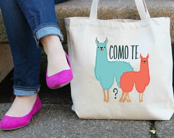 Como Te Llamas XL Canvas Tote Bag