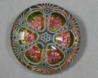 Wheel Czech Glass Button