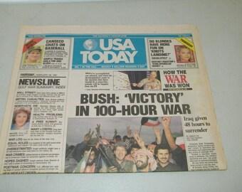 USA Today Newspaper February 28 1991 13224 Gulf War Over