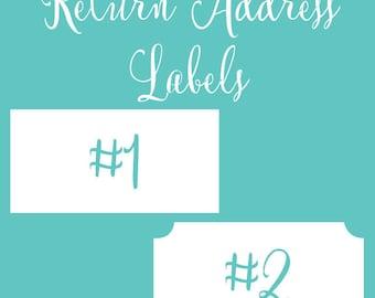 Return Address Label Sheets