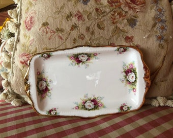 Royal Albert Celebration Country Chic Roses Vanity tray