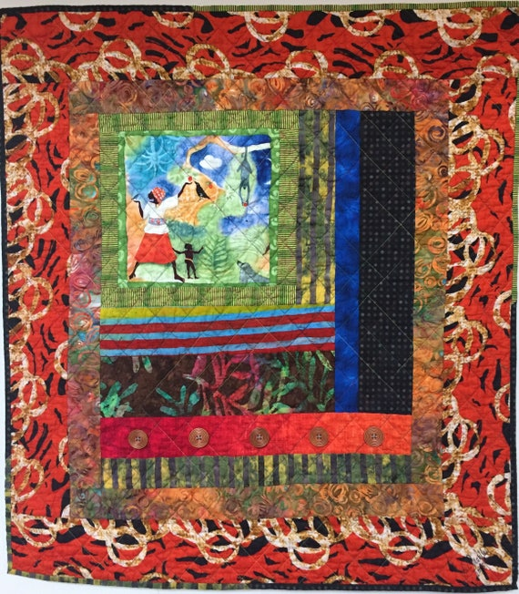 Grateful For Another Happy Day #5 art quilt