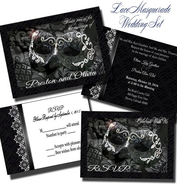 Masquerade Wedding Invitations