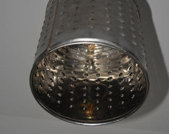 Lamp from an old spinning machine drum