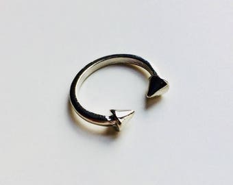 Sale   Spike   Spikes   Curved Barbell   Midi Ring   Goth   Alternative   Emo   Statement   Ring