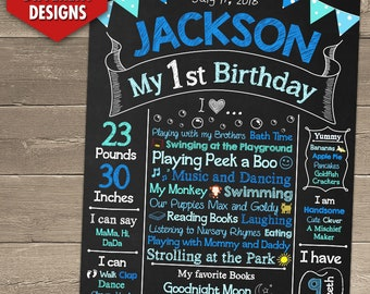 First Birthday Chalkboard, First Birthday Chalkboard Sign, 1st Birthday Chalkboard, First Birthday Chalkboard Poster