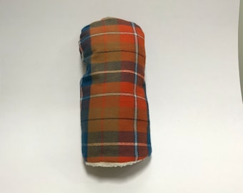 Pioneer Blue and Orange Tartan Golf Club Cover