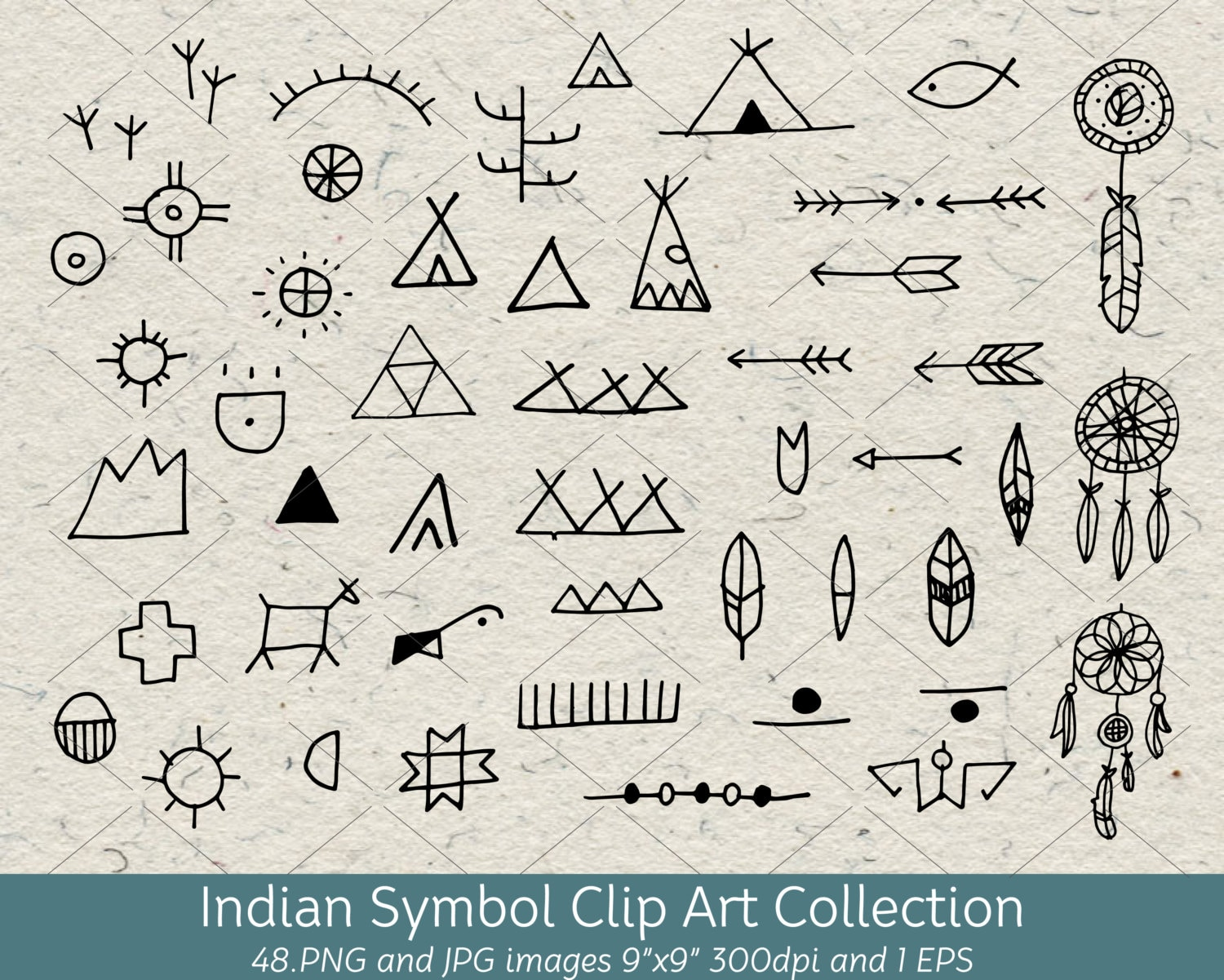 Hand drawn doodle native american indian symbol clip art zoom buycottarizona