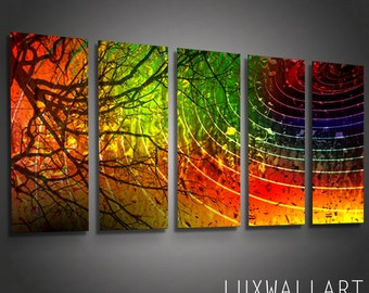 Modern Metal Wall Art Sculpture for Interior and Exterior Color Crazy