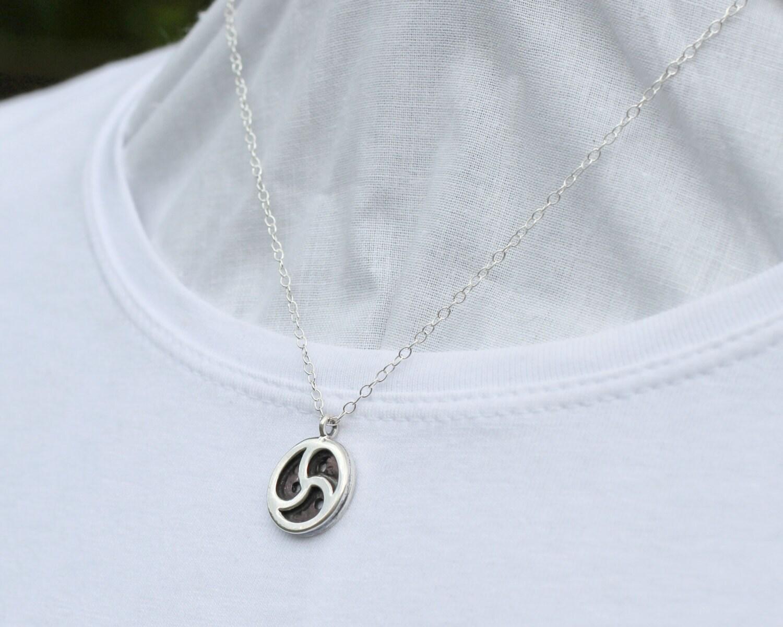 Bdsm emblem necklace steling silver handmatriskele pendant description bdsm emblem necklace biocorpaavc Gallery