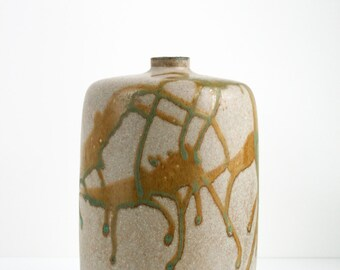 Mid Century Modern Studio Art Pottery Vase Ceramic