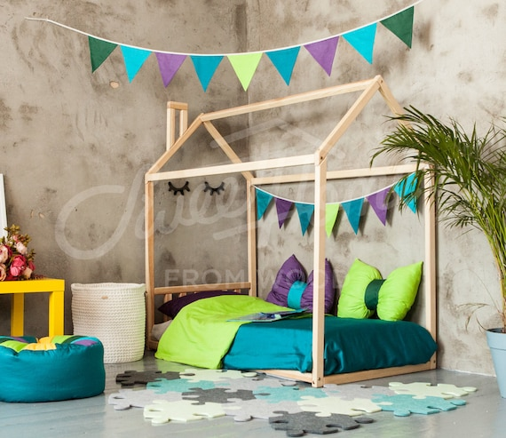 Toddler bed FULL or QUEEN bunk bed bed tent playhouse bed waldorf furniture house bed frame kids bed teepee on legs hausbett playhouse bed & Toddler bed FULL or QUEEN bunk bed bed tent playhouse bed