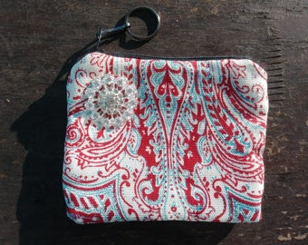 Red Paisley Change Purse 2