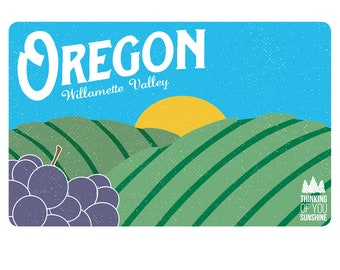 Oregon Willamette Valley Vintage | Postcard