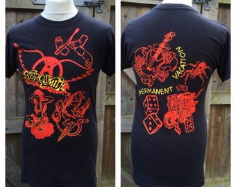 "Vintage 1988 AEROSMITH ""Permanent Vacation"" - ROCK - T.Shirt  - Size S"