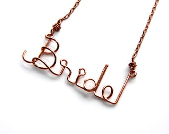 Bride to Be * Bridal Necklace * Gift for Bride * Bride Gift * Bride Jewelry * Bridal Jewelry * Bride * Bridal Shower Gift * Bride Necklace