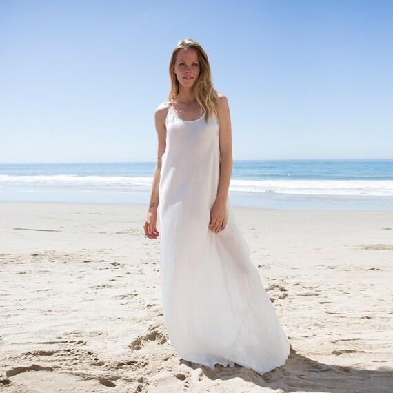 Plus Size Ivory Silk Slip Bias Dress