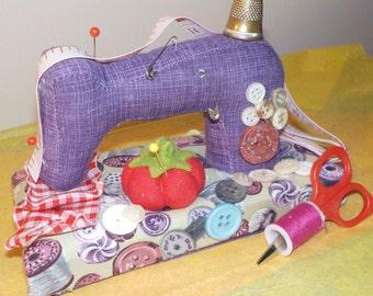 Needlecraft Novelty Pincushion Sewing Machine PIncushion Assemblage ...........X4