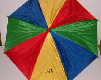 """Monogrammed Fold Up Umbrella Cap With 20"""" Canopy"""