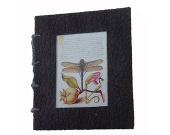 Miniature book, Mother's Day Gift. Artist book, handmade book, coptic stitched mini book, Spring gift, pocket gift, 'ListenWorld'