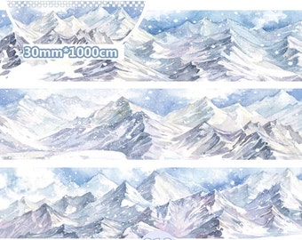 1 Roll of Limited Edition Washi Tape- Snow Mountain