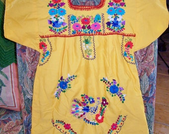 Toddler Dress Ethnic Boho Embroidered Mexican shift size 2 / 3 / 4