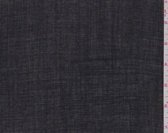 Black Linen, Fabric By The Yard