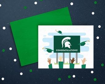 Spartans Will Graduation Card, Michigan State