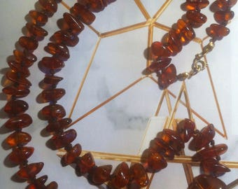 amber collier, jewellery, clear honey