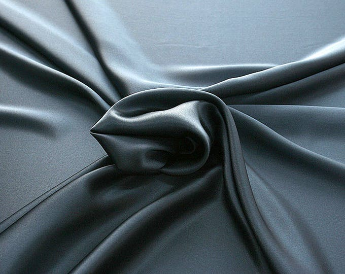 812159-Natural silk crepe Satin 100%, width 135/140 cm, made in Italy, dry cleaning, weight 98 gr