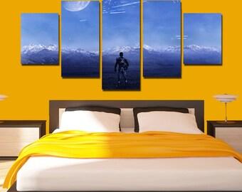 Mass Effect Andromeda Canvas Art Mass Effect poster print 5 panel home art wall decor wall art house decor home decoration living room