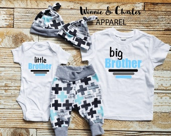 Little Brother Big Brother Matching Set, Little Brother Coming Home Outfit, Little Brother Outfit, Big Brother Shirt, Sibling Outfits