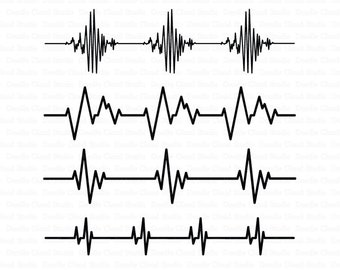 Heartbeat SVG, Cardio Files, Heart Beat Line SVG Files for Silhouette Cameo and Cricut . Heart beat digital clipart PNG included