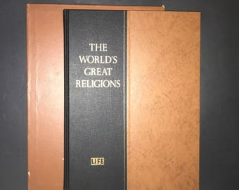Vintage 1957 Life Book The Worlds Great Religions Coffee Table Book  Hardcover with Slipcase  Life Magazine Photography  Spirituality Book