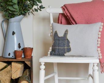 French Bulldog Cushion with tweed French bull dog design | Country Farmhouse cushion | Frenchie dog | French bulldog gift | Bulldog owner