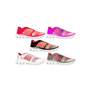 Athletic Shoe Clipart - Running Shoe Clipart, Tennis Shoe Clipart, Gym Shoe  Clipart,