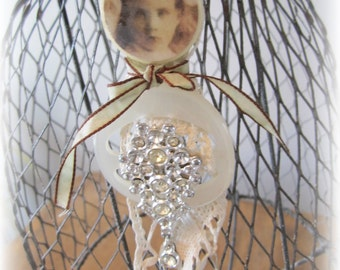 Altered Art Doll Queen of Bling