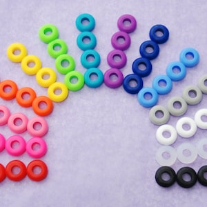 25 Colored Grommets, for DIY Mason Jar Cups, Tumblers, Silicone Grommets, Food Safe, Rubber Grommets, Weddings, Mason Jar, Supplies