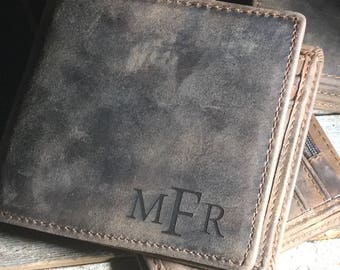 Leather wallet, men's leather wallet