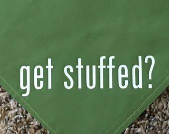 Get Stuffed? Thanksgiving Dog Bandana