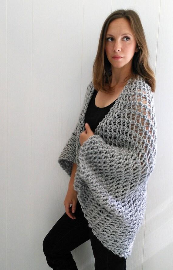 Easy Sweater Pattern Shrug Pattern Beginner Sweater Knit Pattern