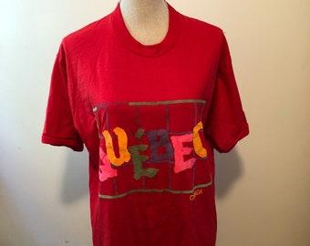 Vintage Quebec Montreal Canada Tshirt