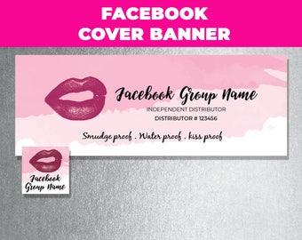 Lipsense Facebook Banner, Lipsense Facebook Cover, Lipsense Facebook Watercolor, Senegence Facebook Banner, FB Cover Photo, Download